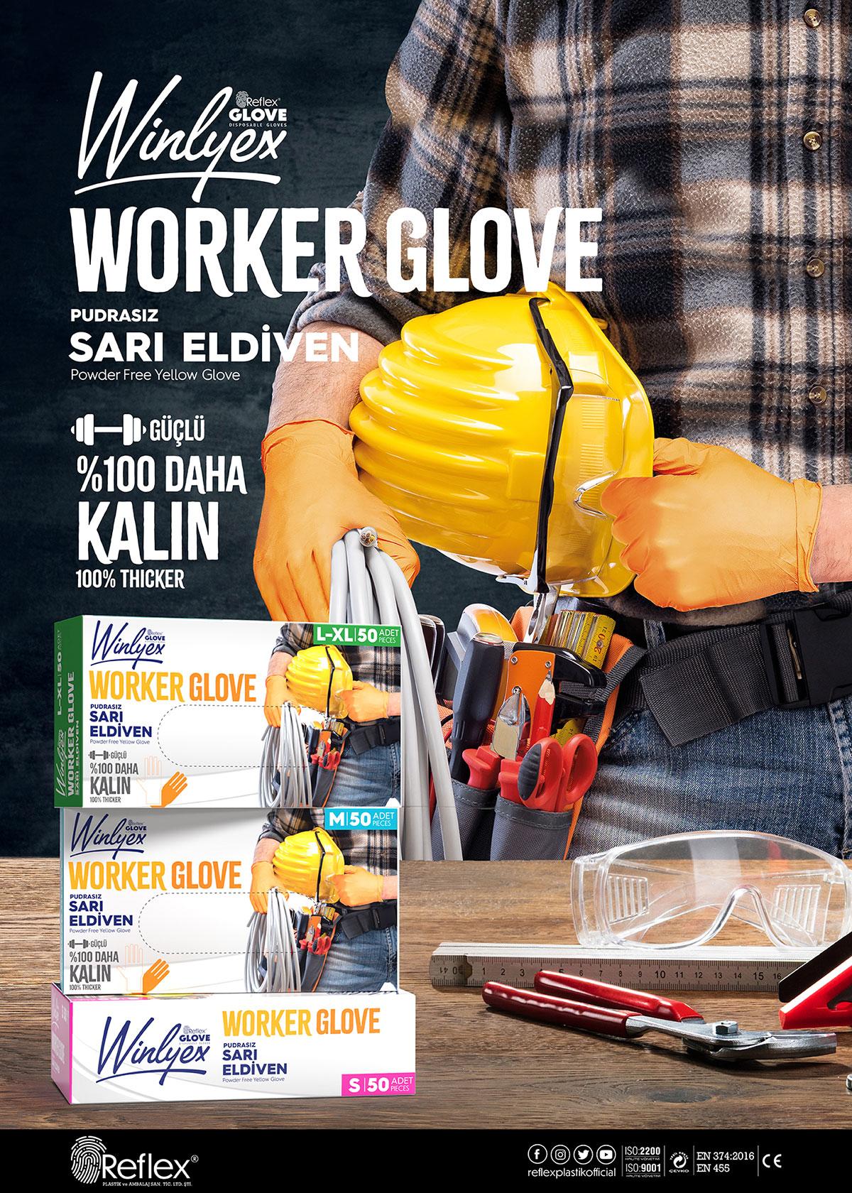 Reflex Winlyex Worker Glove Eldiven